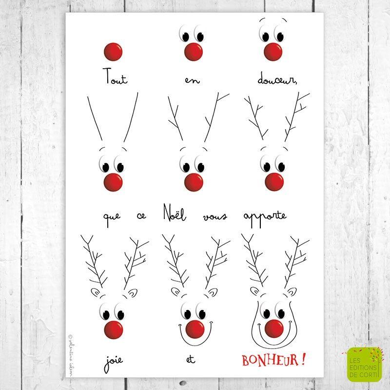 Carte de voeux Tout en douceur illustrée par Valentine Iokem - Editionsdecortil.be