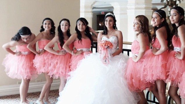 Quinceanera highlight a trend in the city of Monterrey for throwing extravagant parties to mark the point at which young girls turn 15 and, according to Latin American tradition, transition into womanhood.