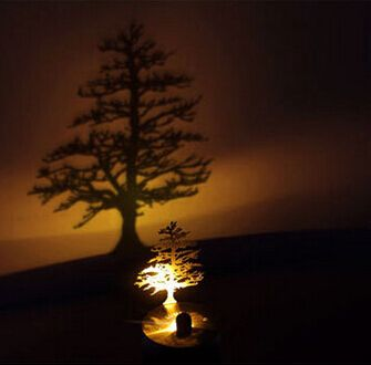 New 1 Piece Pine Trees Shadow Led Projector Night Light Nest Shadow Projection Night Lamp Best Gifts Free Shipping Unusual Lamps Lamp Interior Lighting