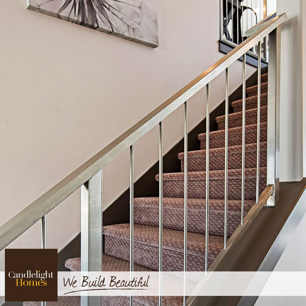 This Sleek Staircase Combines Brushed Metal And Clean Lines To Create A  Cool, Contemporary Feel