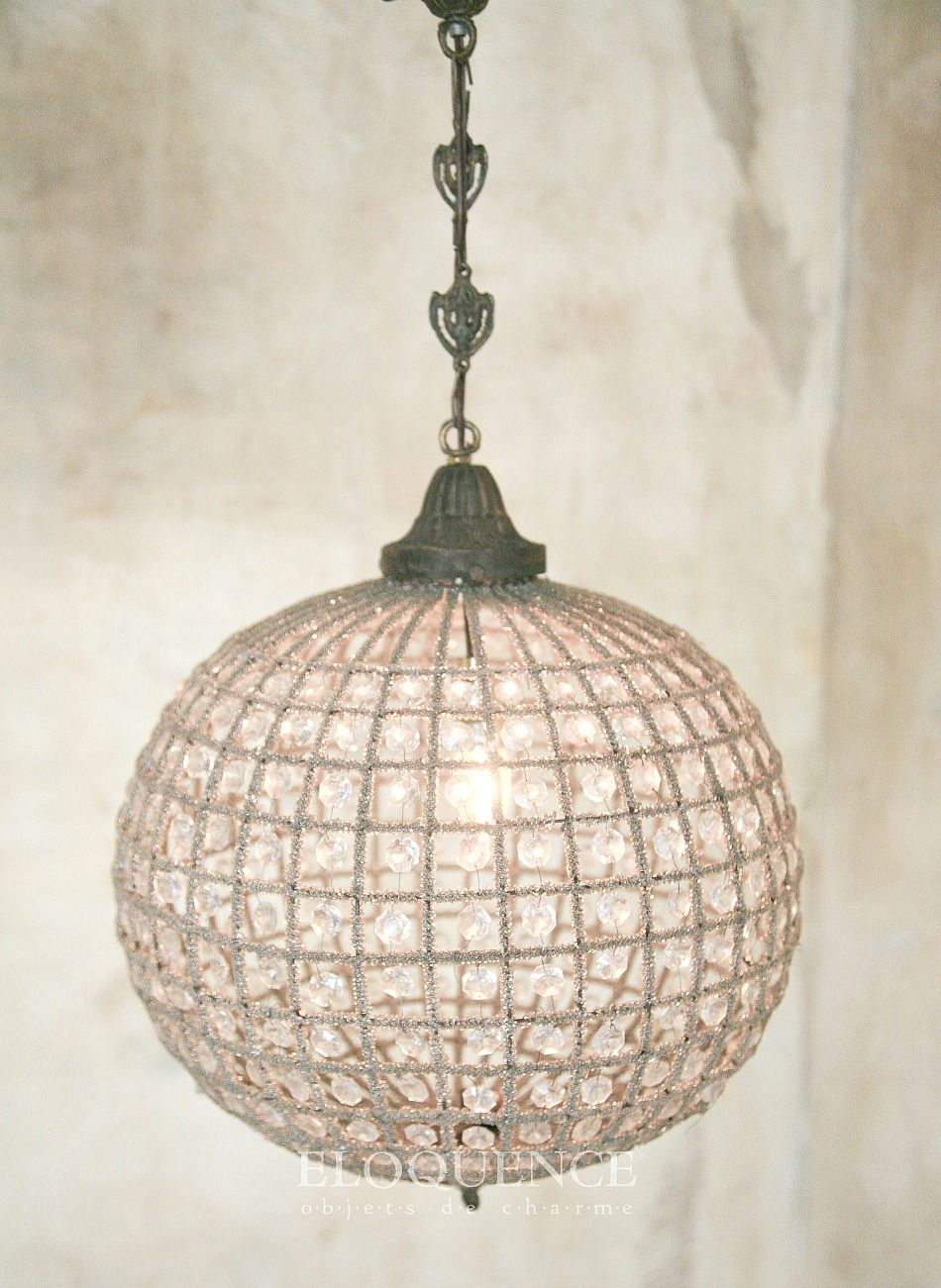 Eloquence Antique Reion French Style Beaded Globe Chandelier
