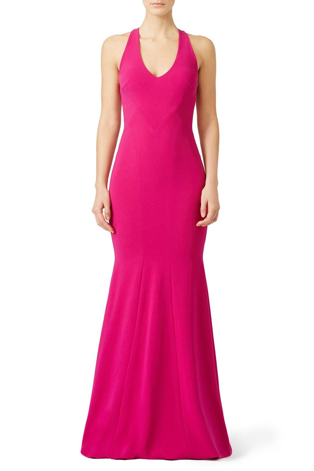 Fuchsia smooth mermaid gown dresses u shoes pinterest mermaid
