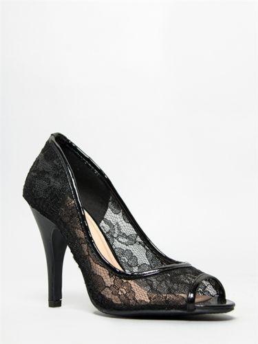 e9f73639972 New Delicious Women Hot Sexy Sweet Peep Toe Lace Pump High Heels Sz Black  Feet