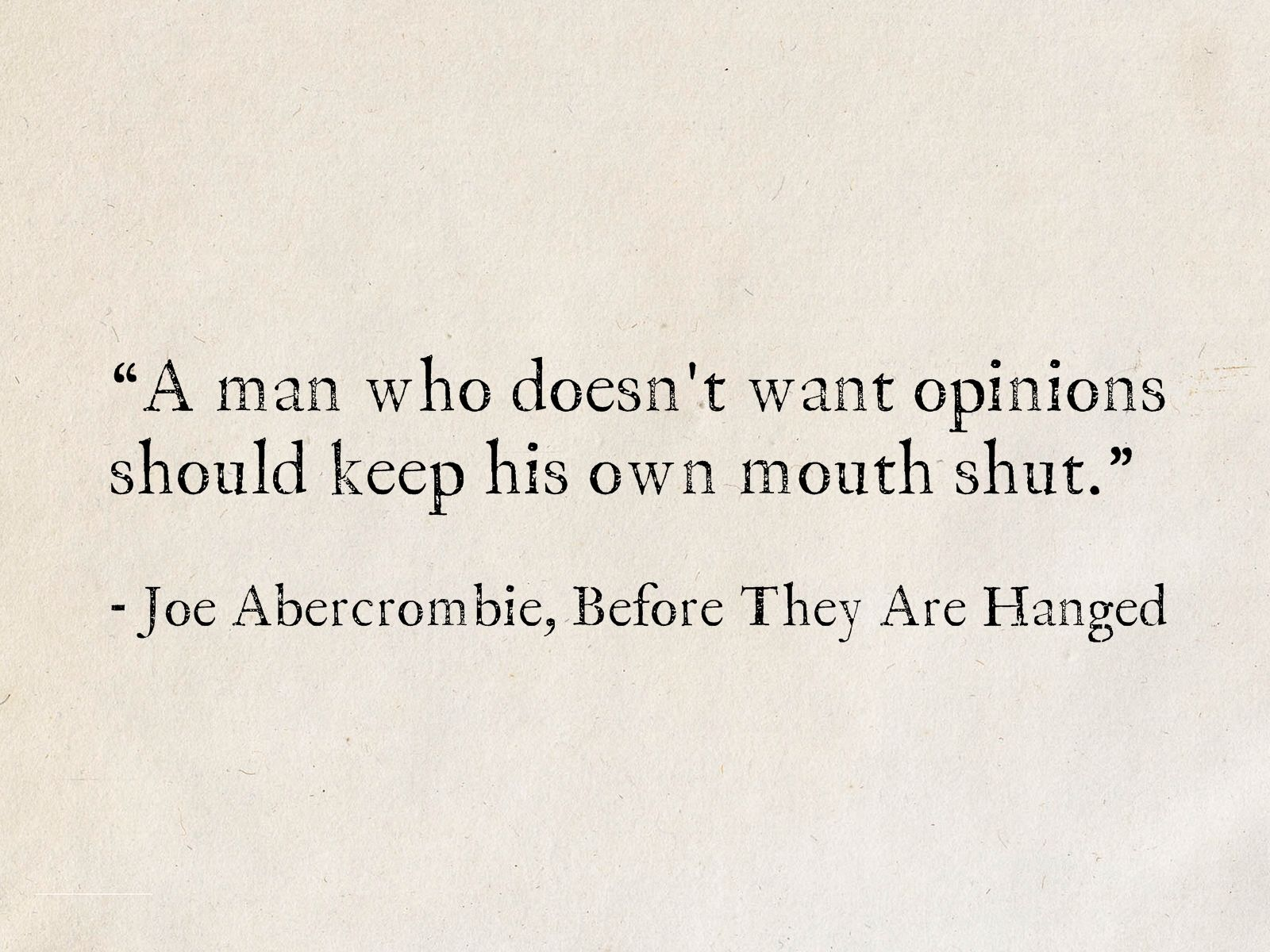 100 Best Quotes From Joe Abercrombie's Fantasy Books