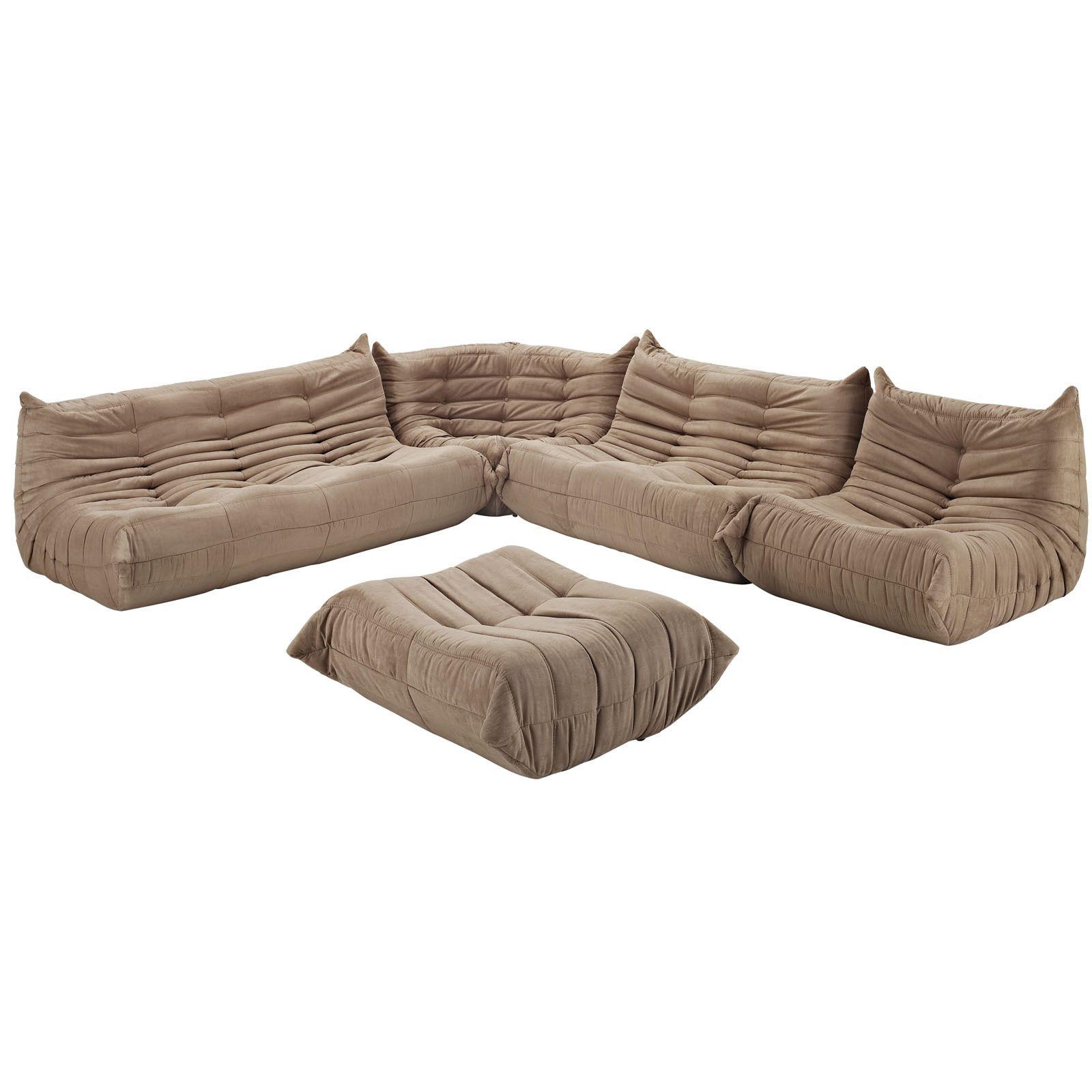 Waverunner Modular Sectional Sofa Set 5 piece by Modway