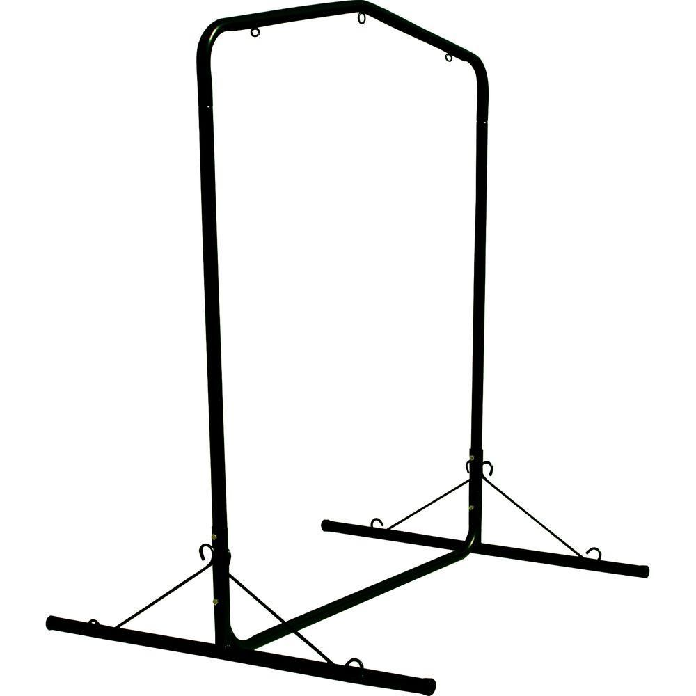 Pawleys island ft wide black textured large steel swing stand
