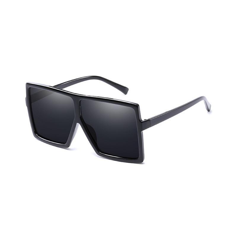 6c56efa86f7 ROYAL GIRL Oversized Women Sunglasses 2018 Women Men Large Flat Top Square  Transparent Frame Sun Glasses Oculos Gafas ss988  sunglasses   squaresunglasses ...