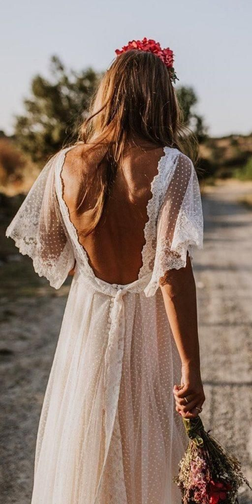 21 Amazing Boho Wedding Dresses With Sleeves
