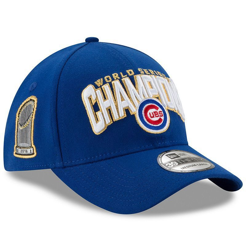 e1caa03f3a5 Adult New Era Chicago Cubs 2016 World Series Champions 39THIRTY Fitted Cap