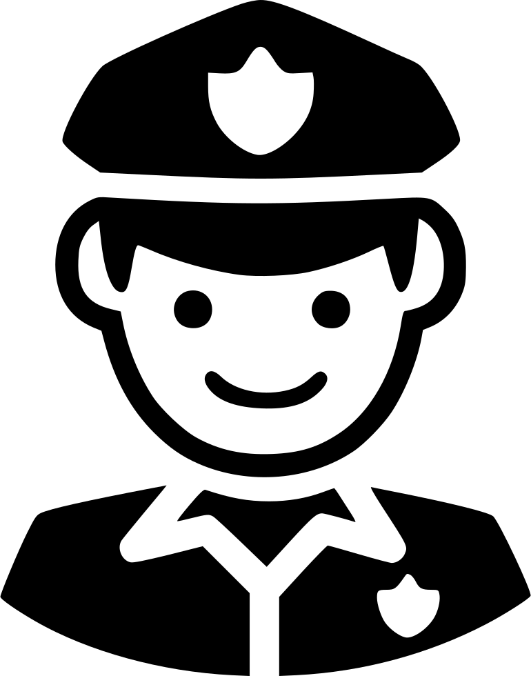 Police Icons Guard Computer Officer Security Law Icon Police Icon