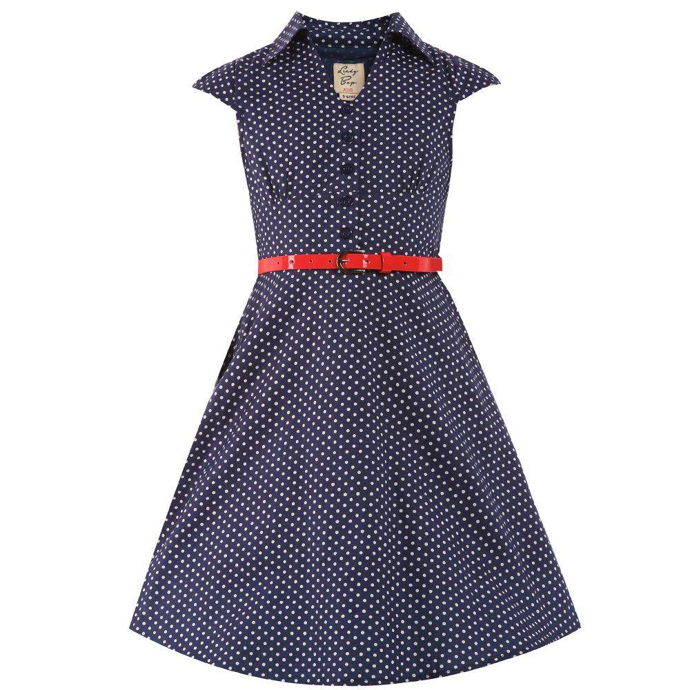 Mini Rebecca\' Navy White Party Dress   Dress vintage, Girls dresses ...