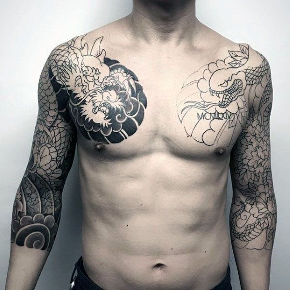 60 Japanese Half Sleeve Tattoos For Men Manly Design Ideas Upper Half Sleeve Tattoos Half Sleeve Tattoos For Guys Sleeve Tattoos