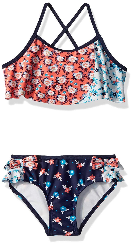 2334c3e3d2 Jessica Simpson Girls' 2-Piece Bikini Swimsuit Set | girls fashion ...
