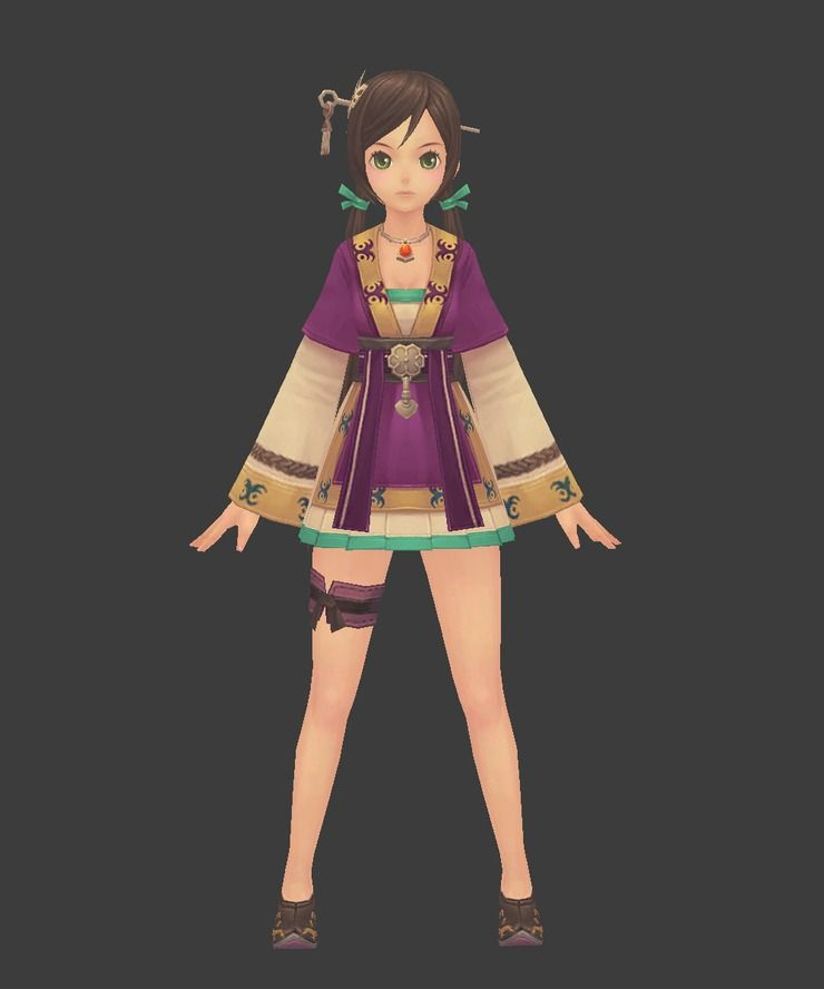 Low Anime Style Character Design Girl Character Modeling Low