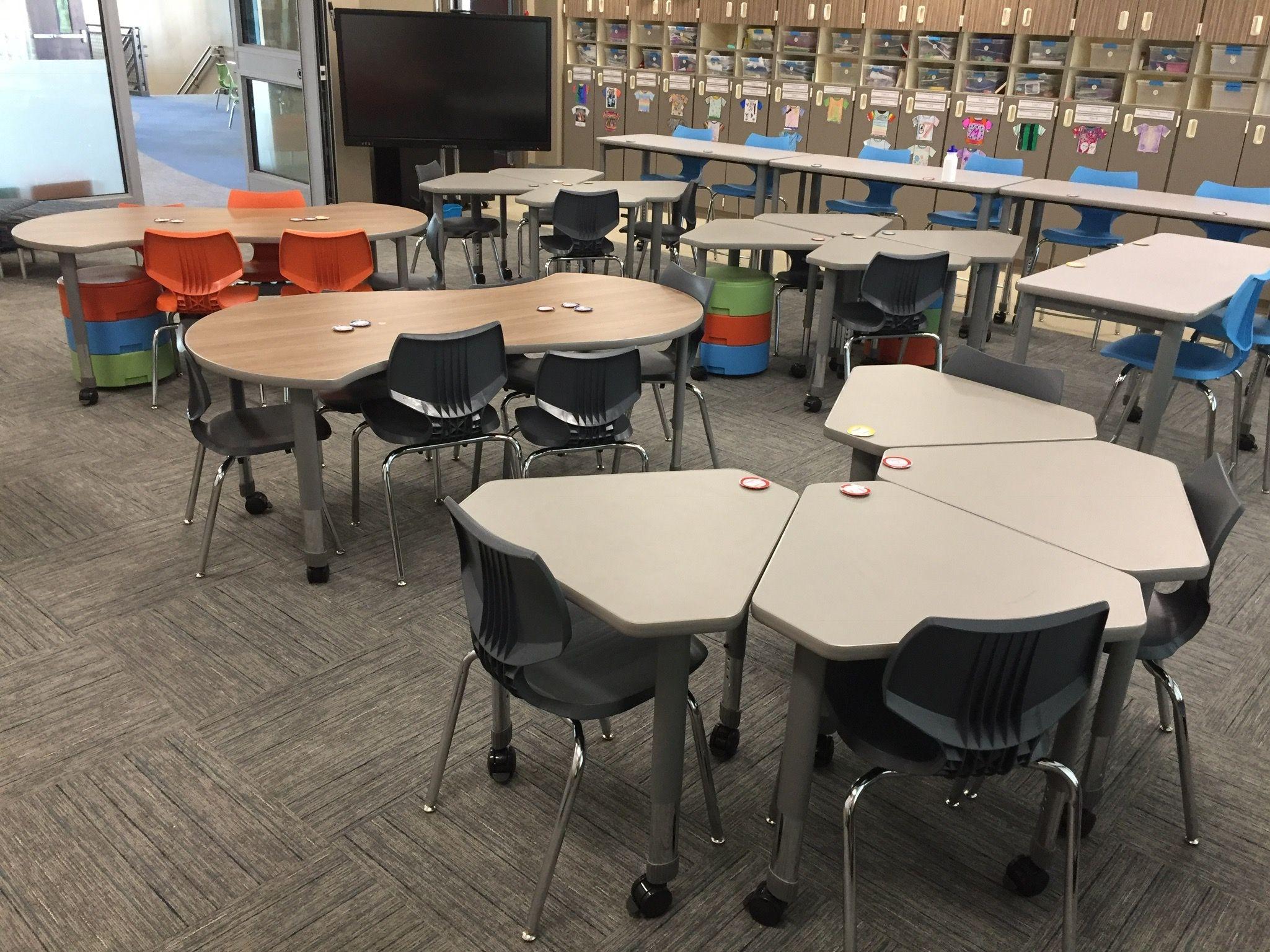classroom #classroomdesign Interchange Diamond Desks ...