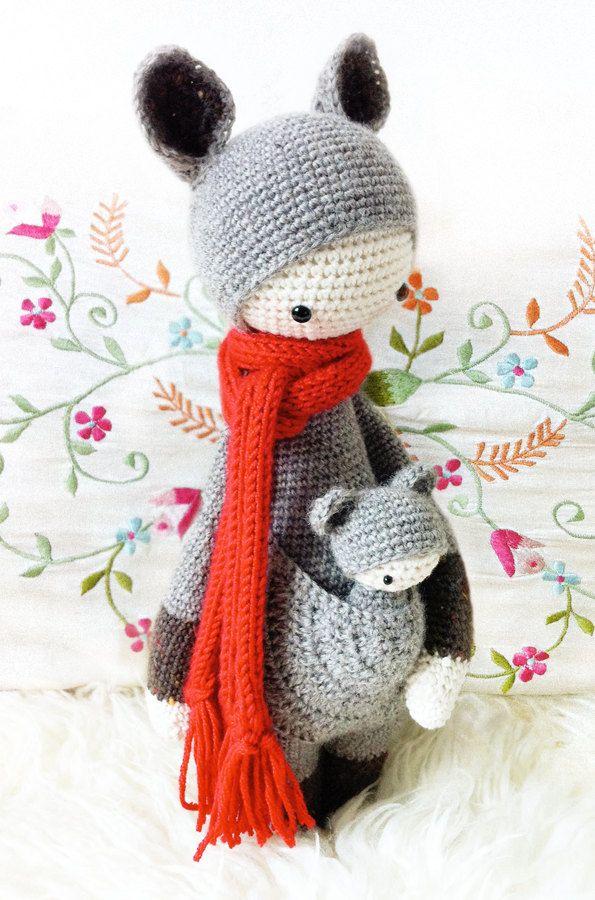 KIRA the kangaroo • lalylala crochet pattern / amigurumi | Canguro ...