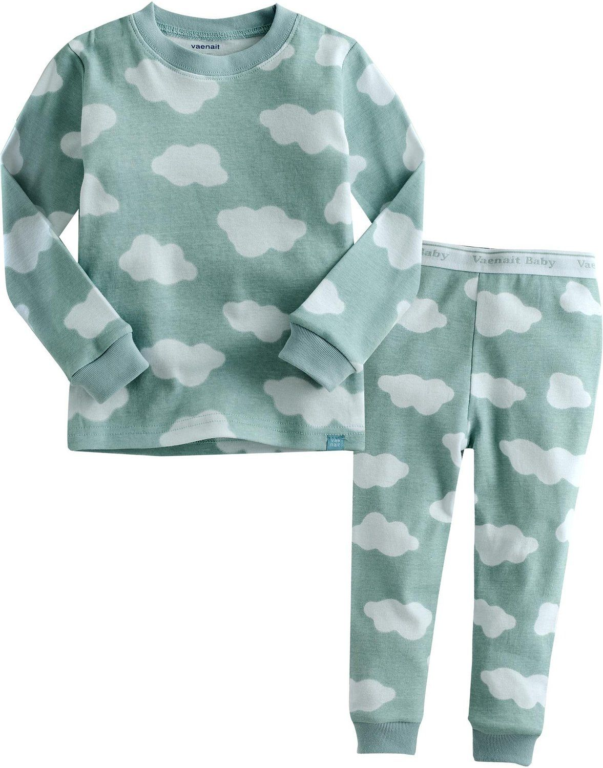 226911a079 Amazon.com  Vaenait Baby 12M-7T Kids Boys Sleepwear Pajama Top Bottom 2  Pieces Set Long Cloud  Clothing
