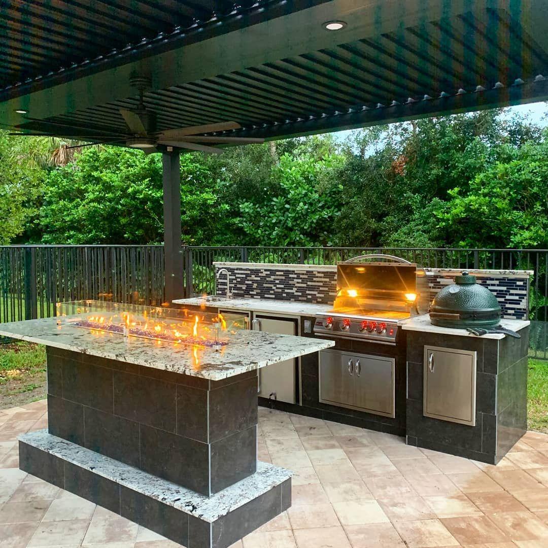 """Arcadia Outdoor on Instagram """"Outdoor kitchens custom"""