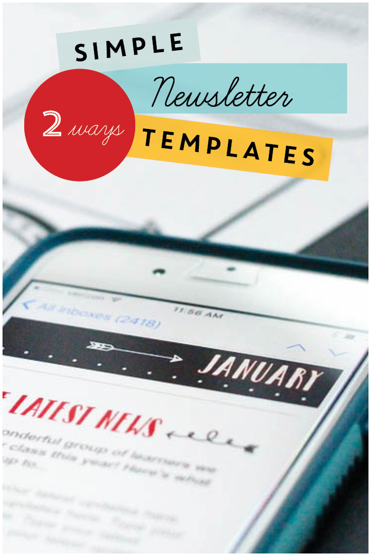 Classroom Newsletter Templates Chalkboard Style Pinterest - Powerpoint newsletter template