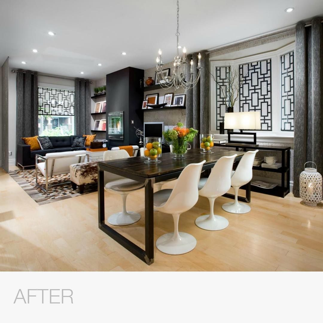 Candice Olson On Instagram This Room Was Really One Big Space So I Had To Create A Sense Of Flow I Dining Room Makeover Hgtv Living Room Dining Room Design Living dining room meaning