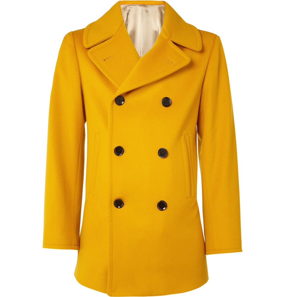 various styles full range of specifications luxury I. want. this. coat. Yellow peacoat by E. Tautz. It is ...