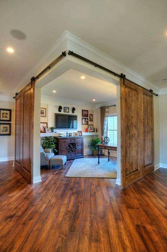 Barn Door Room Home New Homes House