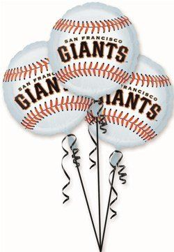 San Francisco Giants Party Balloons