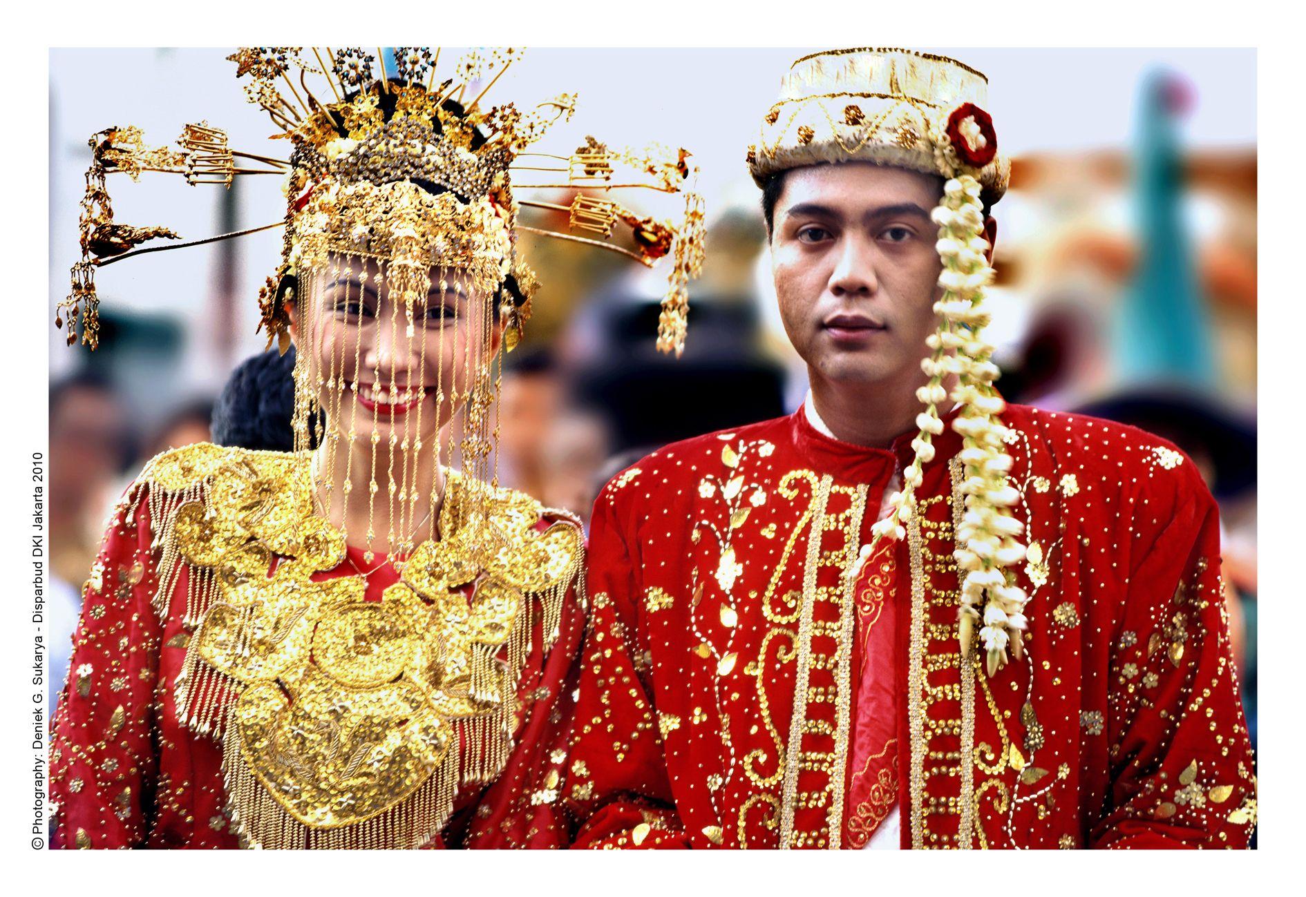 Traditional Betawi Wedding  Pernikahan tradisional, Pengantin