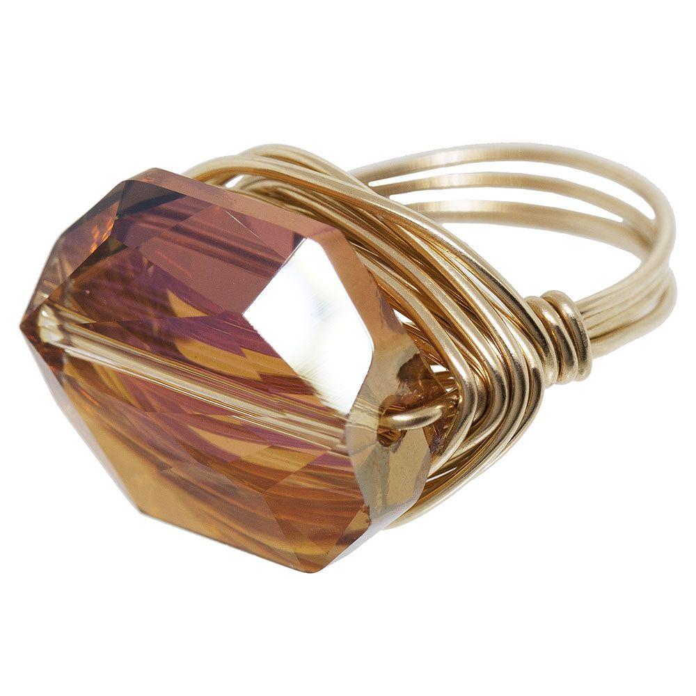 I might branch out and try to make this ring.  I will get to practice wire wrapping technique.