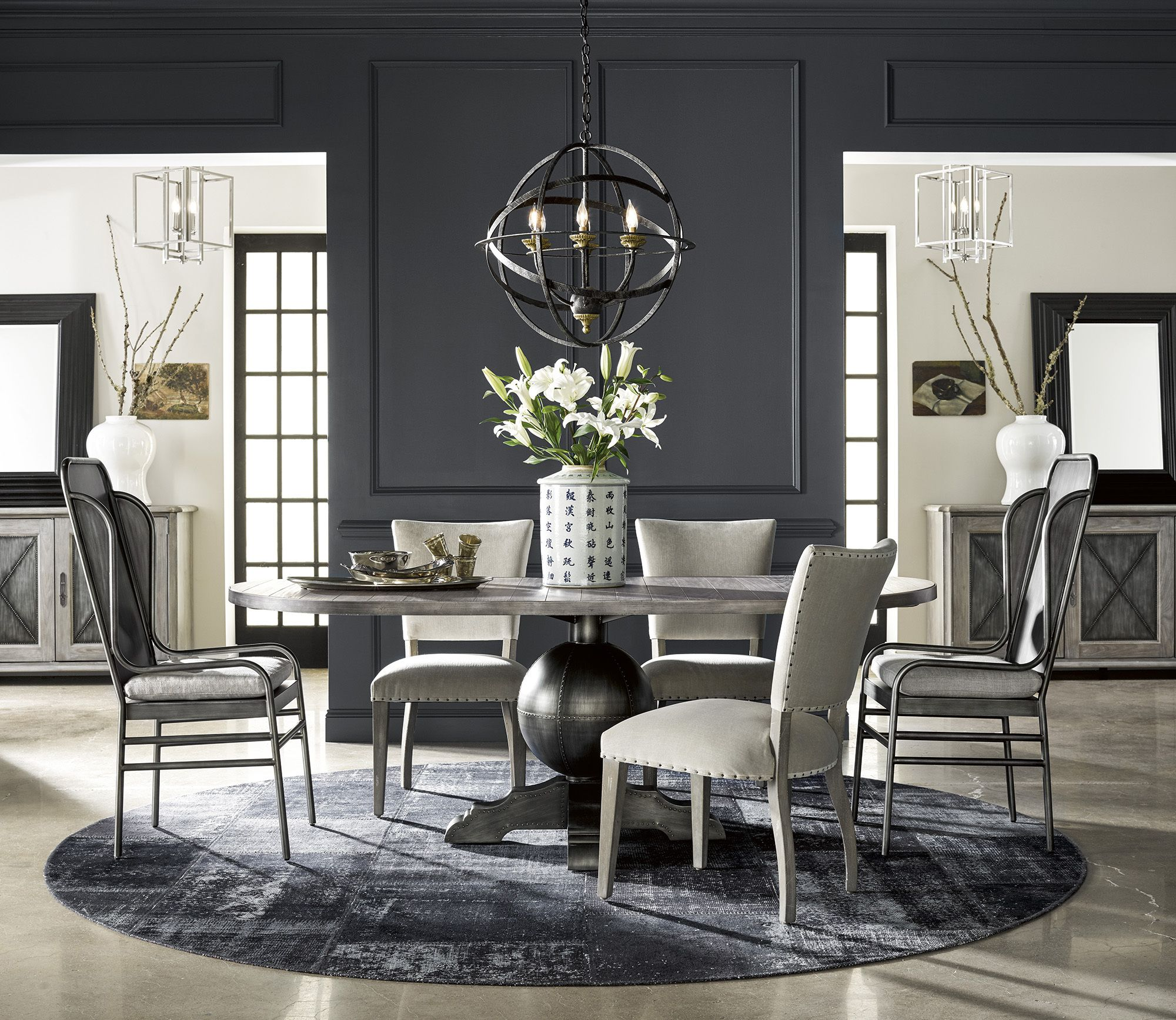 Rutledge Pedestal Table Dining Set Universal Furniture Home