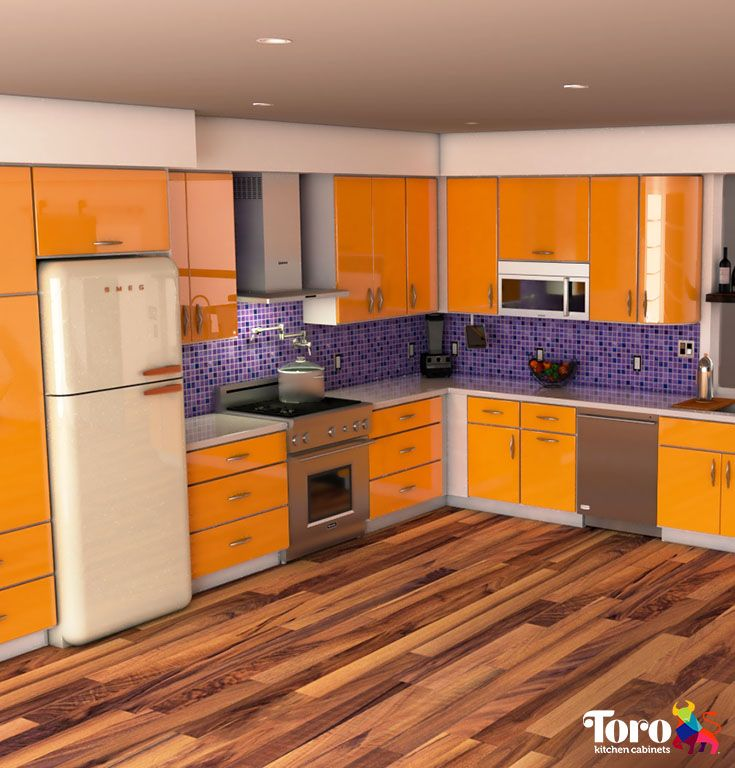 Toro Kitchen Cabinets: Shown Here In Mango Powder Coated Metal Doors With  Melamine (