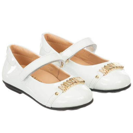 f2570d8a180 Moschino Kid-Teen - White Patent Leather Shoes