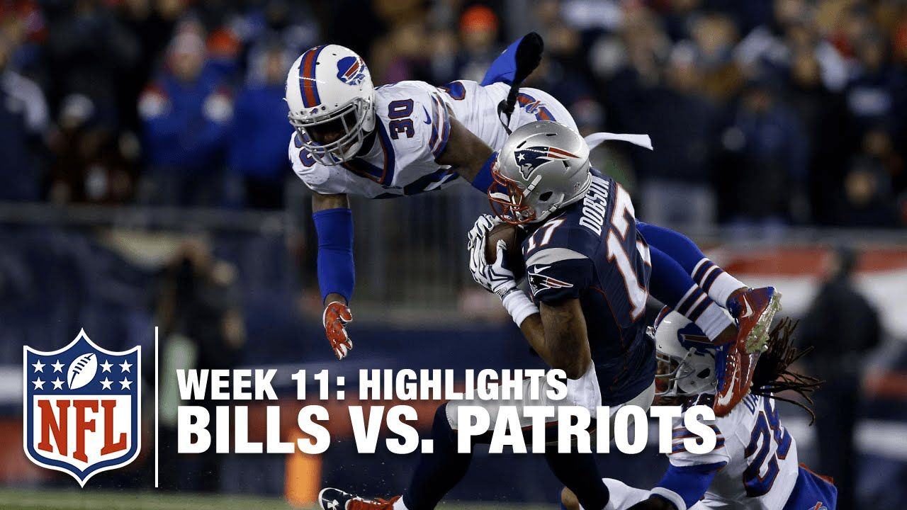 Bills Vs Patriots Week 11 Highlights Monday Night Football Monday Night Football Patriots Nfl Bills