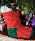 Crochet Holly Stocking
