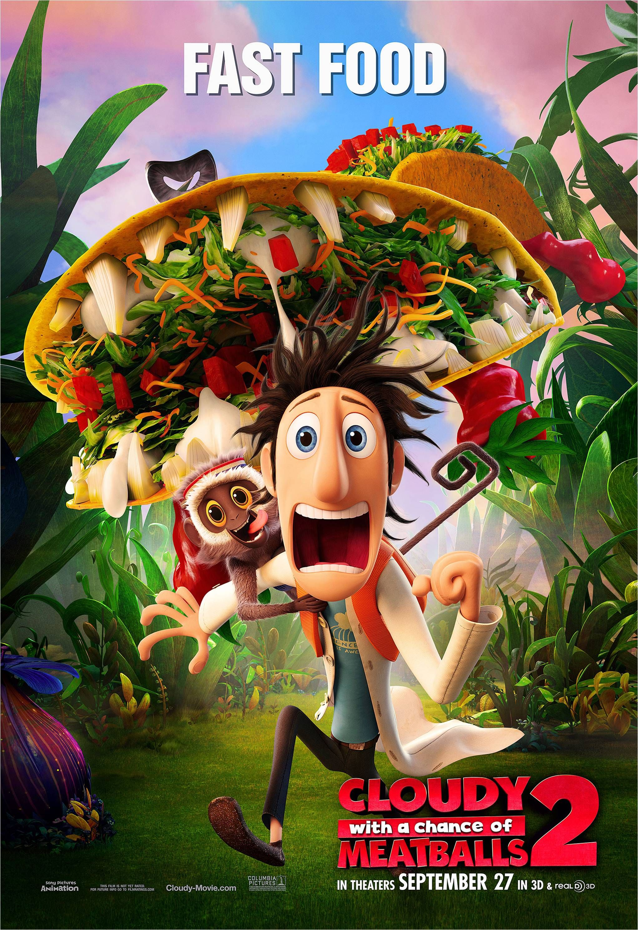 Cloudy With A Chance Of Meatballs 2 Animated Movie Posters Cartoon Movies Meatballs