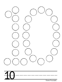 More free do a dot printables! Here are numbers 1-10. (To ...