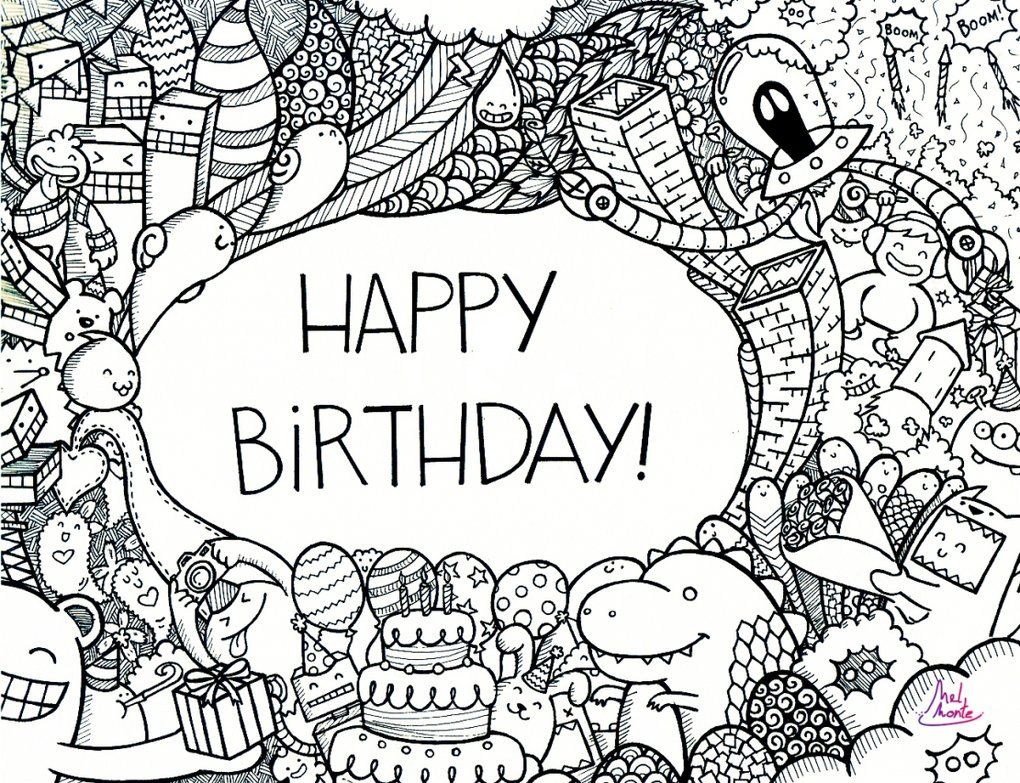 Happy birthday doodle by ~montemel on deviantART | DIY & Crafts that ...