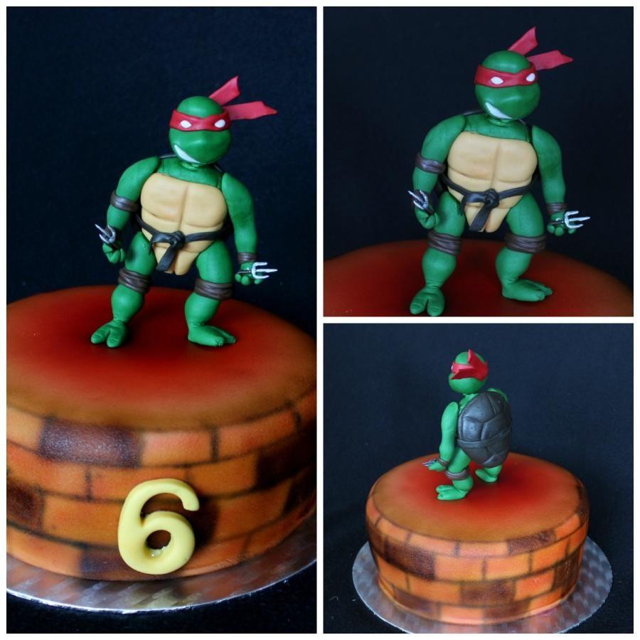 Ninja Turtles Raphael Cake by luna TM Ninja Turtle Cakes