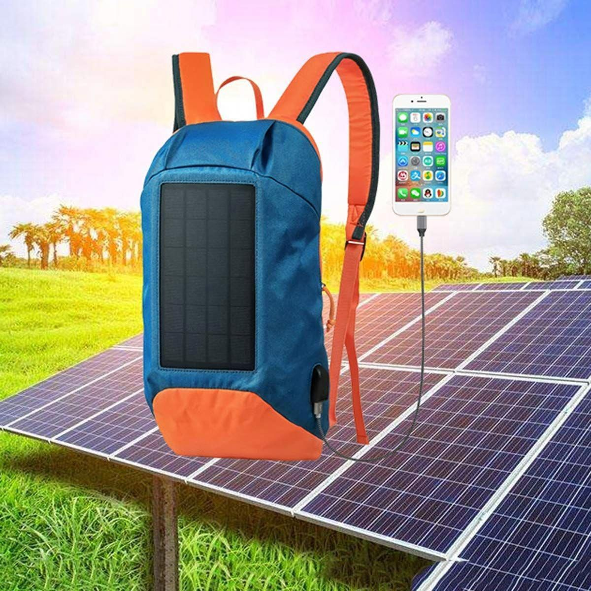 Solar Bag Unique Backpack Made Colourful No Need To Carry Power Bank To Charge Devices Outside The Most Efficient Solar Cell In The Market Used To Provide 2 In 2020