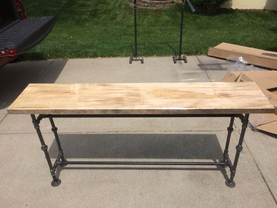 Sofa Table by IronMerchant on Etsy