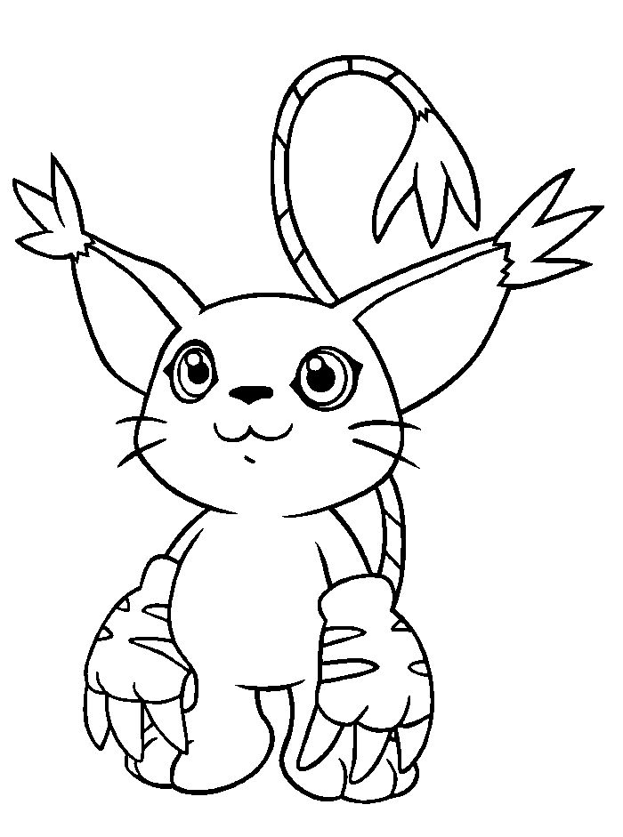 Gatomon Digimon Coloring Pages - Digimon cartoon coloring pages ...