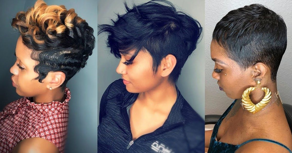 Short Weave Hairstyles 2019 Black Female 50 Short Haircuts For Black Wome Short Hair Styles African American Black Haircut Styles Black Women Short Hairstyles