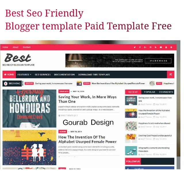 Best Seo Is Friendly Blogger Template Adsense Ready Fast Loading Premium Features Supported Theme This Paid Version But I Giving You Free Of Cost