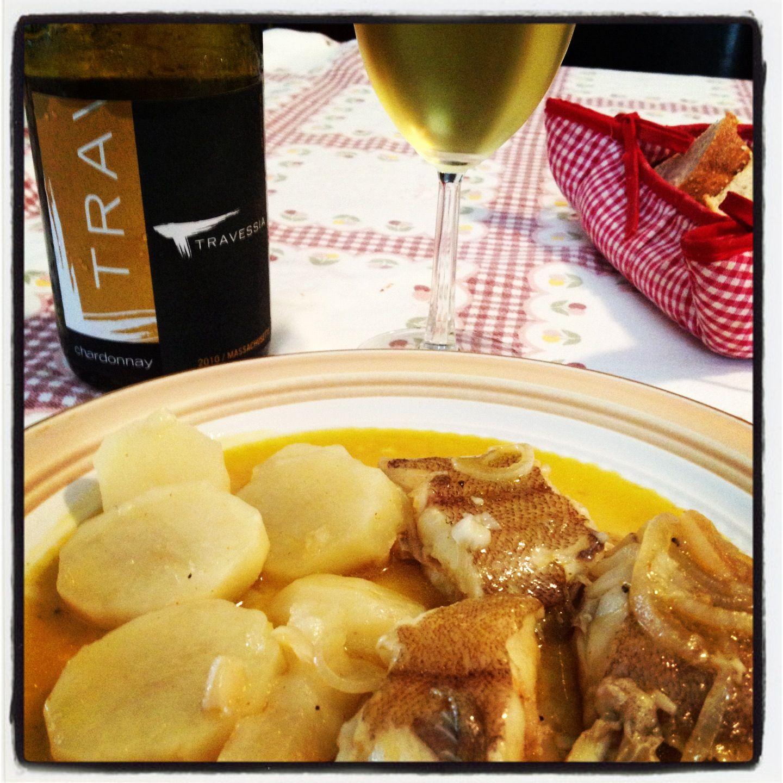 Travessia Chardonnay with fish stew...