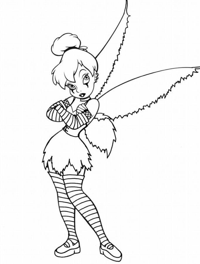 gothic tinkerbell coloring pages | Ink | Pinterest | Tinkerbell ...