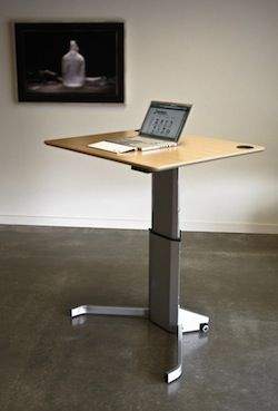 This Standing Desk Has A Clean Design Looks Very Stable