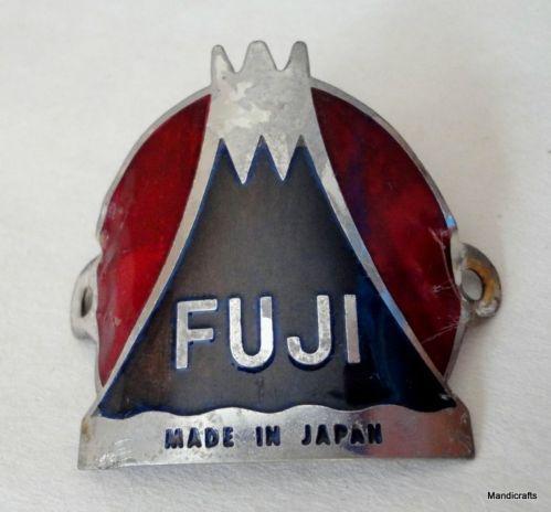 vintage bicycle head tube badge fuji - Google Search