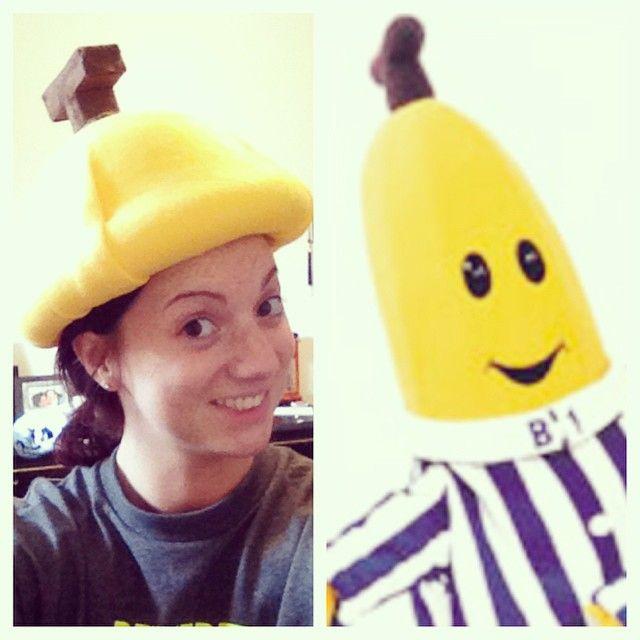 Homemade Banana Hat For My Bananas In Pyjamas Halloween Costume