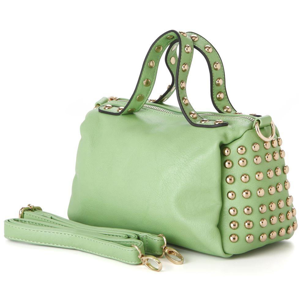 RIO Green Mini Studded Bowling Style Tote Handbag