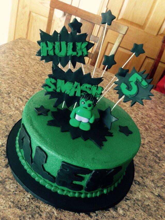 Incredible Hulk birthday cake The Avengers Pinterest Hulk